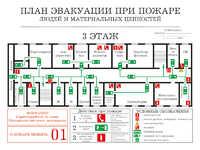 Планы эвакуации  А3 на пленке