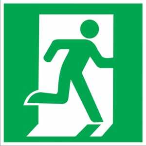 """Пожарный знак """" Дверь эвакуационного выхода"""""""